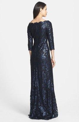 Tadashi Shoji Embellished Lace Gown