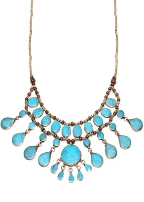 Natalie B Jewelry Cassidy II Necklace in Turquoise