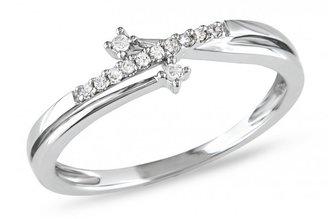 Ice 0.06 CT Diamond TW 10K White Gold Fashion Ring