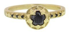 Black Diamond Megan Thorne Astra Solitaire Ring with Yellow Gold