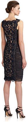 Search Results, Tadashi Shoji Ruched Inset Lace Dress