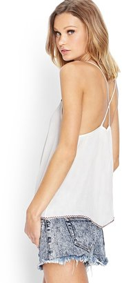 Forever 21 embroidered crossback cami