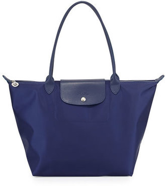 Longchamp Le Pliage Néo Large Nylon Tote Bag, Navy $190 thestylecure.com