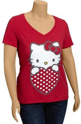 Hello Kitty Women's Plus Heart Tees