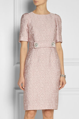 Dolce & Gabbana Belted jacquard dress