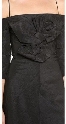 Carven Off Shoulder Dress
