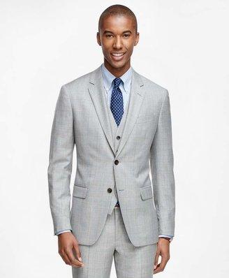 Brooks Brothers Milano Fit Windowpane Three-Piece 1818 Suit