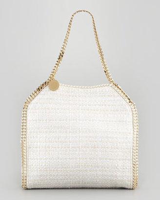 Stella McCartney Baby Bella Boucle Tweed Shoulder Bag, Natural