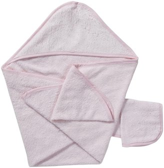American Baby Company Hooded Towel Set - Pink