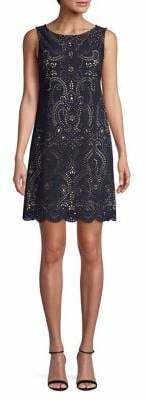 Eliza J Laser-Cut Shift Dress