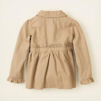 Children's Place Uniform twill ruffle jacket