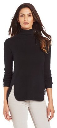 Magaschoni Women's High Low Turtle Neck Sweater