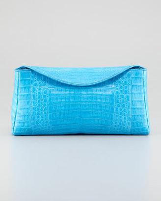 Nancy Gonzalez Crocodile Chain Clutch Bag, Blue