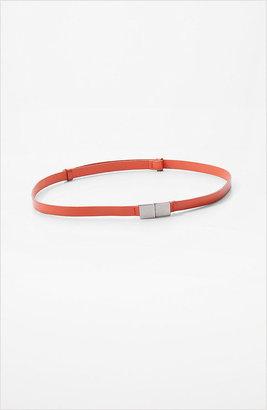 J. Jill Square-clasp narrow leather belt
