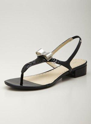 Adrienne Vittadini Metallic Flat Thong Sandal