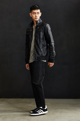 Urban Outfitters Charles & 1/2 Faux Leather Moto Jacket