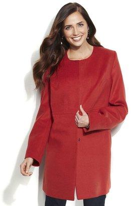 Apt. 9 collarless walker coat - women's
