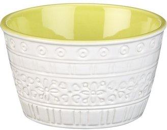 """Crate & Barrel Tiago Green 5.12"""" Small Bowl"""