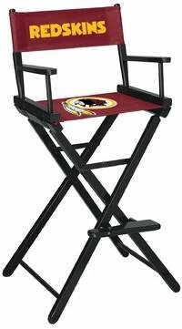 Redskins Imperial International NFL Bar Folding Director Chair Imperial International NFL Team: Washington