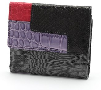 B-collective by buxton victoria leather patchwork bifold wallet