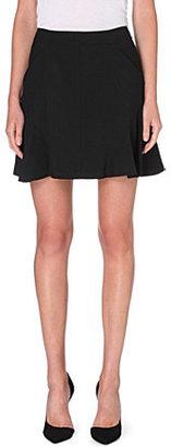 Diane von Furstenberg Flared stretch-crepe mini skirt