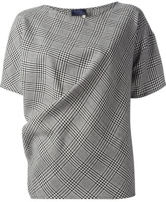 Lanvin checked loose fit top