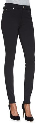 7 For All Mankind High-Waist Doubleknit Skinny Jeans, Black $168 thestylecure.com