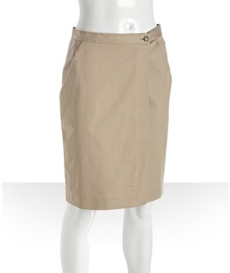 Prada Sport jute cotton twill wrap front skirt