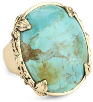 """Barse Bronzed by Jubilee"""" Turquoise Oval Ring"""