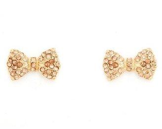Charlotte Russe Darling Bow Stud Earrings
