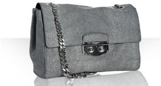 Yves Saint Laurent grey stingray print chain shoulder bag