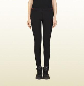 Gucci Black Nylon Legging With Web Detail