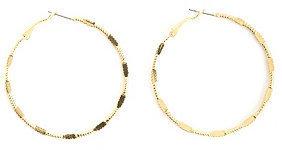 Charlotte Russe Twisted & Textured Hoop Earrings
