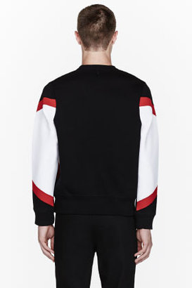 Neil Barrett Black colorblocked sweatshirt