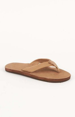 Rainbow Premier Single Layer Tan Flip Flops