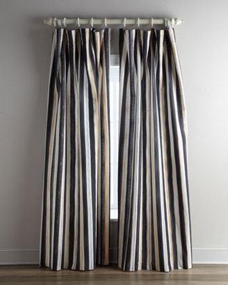 "Mackenzie Childs MacKenzie-Childs ""Courtly Stripe"" Curtains & ""Pom Pom Festoonery"" Tassels"
