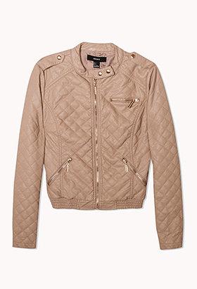 Forever 21 Quilted Biker Jacket