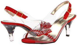 Annie Cathy (Red Satin) - Footwear