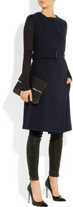 Burberry Leather and wool-blend coat