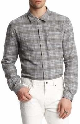 John Varvatos Plaid Cotton Button-Down Shirt