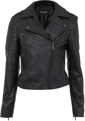 Miss Selfridge Authentic black leather jacket