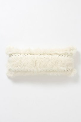 Anthropologie Cableknit Shag Pillow