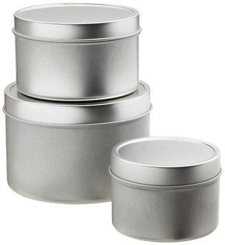 Container Store 8 oz. Seamless Tin Silver