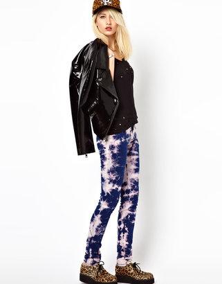 Tripp NYC Tie Dye Ripped Skinny Jeans