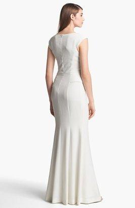 Black Halo Eve Laurel Berman 'Wren' Crepe Peplum Gown