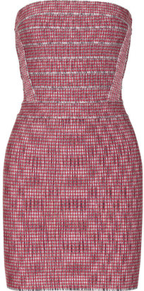 Herve Leger Houndstooth bandage dress
