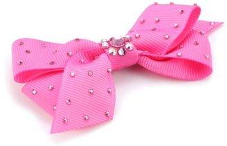 "Tarina Tarantino Classic"" Pink Grosgrain Bow Anywhere Clip"