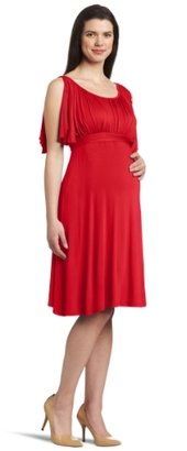 Jules & Jim Women's Maternity Split Sleeve Scoop Neck Dress With Belt