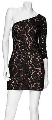 Notte by Marchesa One Shoulder Lace Dress
