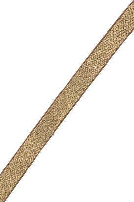 Diane von Furstenberg Haley metallic textured-leather wrap belt